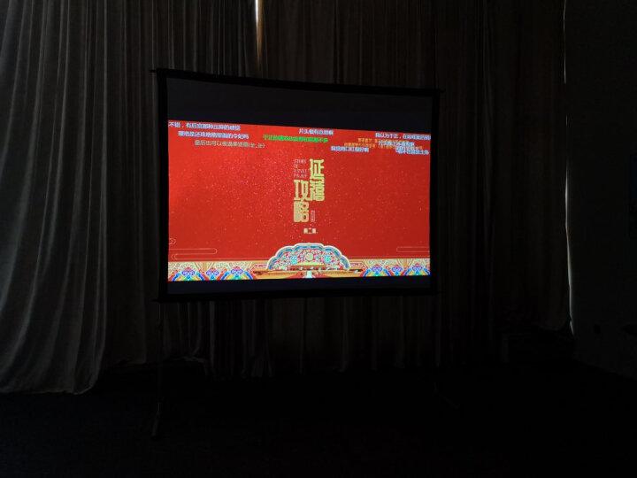 纳米亚(Namias)快速折叠投影幕布投影仪屏幕支架户外移动便携快折幕(标配航空箱) 背投(4K软灰) 300英寸16比10 晒单图