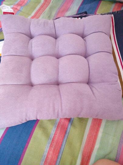 九洲鹿 坐垫家居 时尚加厚麂皮绒坐垫沙发垫子 办公室美臀坐垫汽车座垫 紫色 36*36cm(单只装) 晒单图