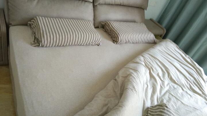 博洋家纺 床上用品 天竺棉床笠四件套全棉精梳针织棉单人双人床单被套三/四件套 洱 1.5米床 晒单图