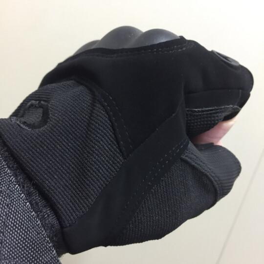 博沃尼克 户外登山黑鹰半指特种兵手套 运动战术手套骑行手套 硬壳款XL号 晒单图