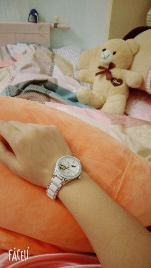 【视频看货】尼尚(Nesun)女士手表 全自动机械钟表荷塘月色镂空女表 陶瓷时尚女式腕表 石英表玫金白面LS9072-MBM 晒单图