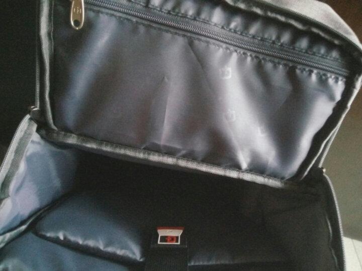 SVVISSGEM双肩背包 韩版休闲出游旅行双肩包14.6英寸电脑包书包 SA-9970 浅灰色 晒单图