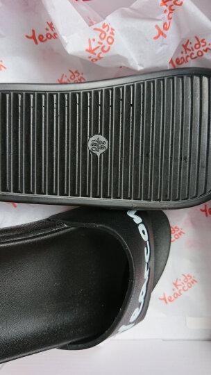 意尔康儿童拖鞋2018年夏季新款男女童鞋沙滩拖鞋休闲舒适凉鞋 黑色 26内长17.5/适合脚长16.8 晒单图