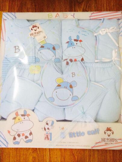 班杰威尔纯棉加厚加棉秋冬保暖婴儿礼盒套装 新生儿礼盒0-6 6-12个月宝宝衣服 内衣棉服 粉色 0-6个月 晒单图