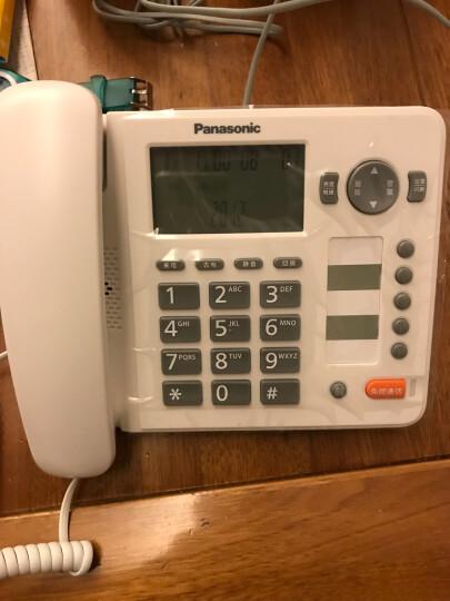 松下(Panasonic)KX-TS398CN免提通话来电显示电话机家用办公座机(白色) 晒单图