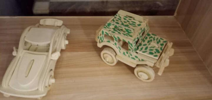 3D立体拼图儿童玩具木质DIY木制模型益智拼装积木男女孩子礼物飞机汽车合集5-6-7-8岁 苏27飞机 晒单图