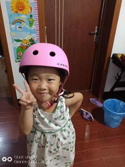 KASTO 儿童头盔滑步自行车骑行轮滑板头盔户外安全攀岩头盔滑步学步车头盔 桃红(梅花涂装) 晒单图
