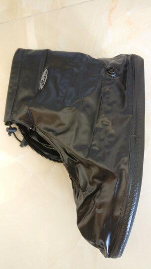 雨易思男女防雨鞋套中筒加厚耐磨底防滑下雨天防水成人雨靴套 黑色 XXL号适合42-43码 晒单图