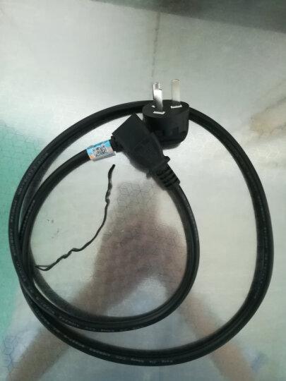 三堡(SANBAO)SG-112 电源线纯铜线芯电脑电饭锅显示器打印机品字头三孔电源线 1平方铜芯国标电源线1.2米 晒单图