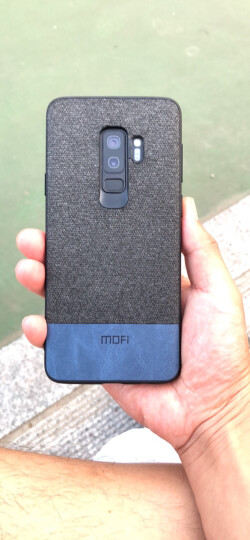 莫凡 三星Galaxy S9+手机壳/保护套 个性创意全包边防摔贴皮背壳 适用于三星Galaxy S9Plus手机套 撞色蓝 晒单图
