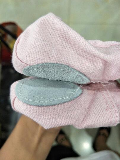 驰动 成人幼儿童舞蹈鞋软底练功鞋女童猫爪鞋跳舞鞋帆布瑜伽鞋芭蕾舞鞋 粉色27码 晒单图