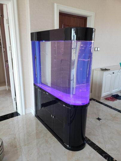E家E缸子弹头鱼缸水族箱1米生态亚克力底滤鱼缸子弹头屏风鱼缸家用 白色 奢华套餐 (干湿分离底滤) 95cm 晒单图