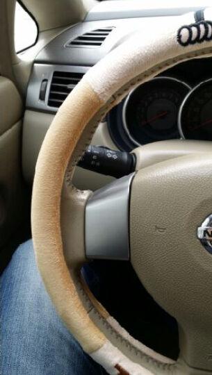 铁臂阿童木 汽车方向盘套 速腾雅阁H6别克卡罗拉四季通用型 卡通毛绒把套 中号 XSJ-10米咖 晒单图
