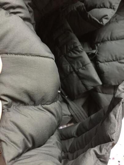 橡莎秋冬新款羽绒服女中长款轻薄款大码修身过膝加长A字墨绿色羽绒服清仓特卖16763 黑色 XXXL 晒单图