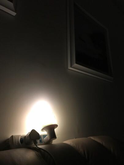 心新照明(hnlife) led小夜灯喂奶灯 调光调色温 氛围卧室睡眠灯智能遥控床头灯 开心家庭小夜灯 晒单图