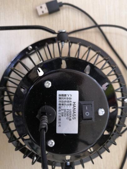 海纳斯 HANASS FS-0612电风扇USB迷你4寸轻音小风扇便携创意桌面办公风扇 晒单图