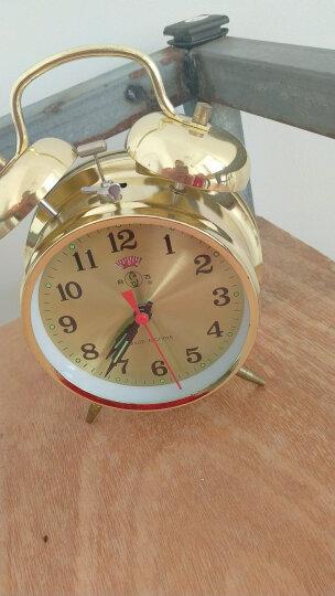 小闹钟钟表  上发条铃声响机  械闹钟全铜机芯走时精准 性能稳 817 817 银色鸡啄米 晒单图