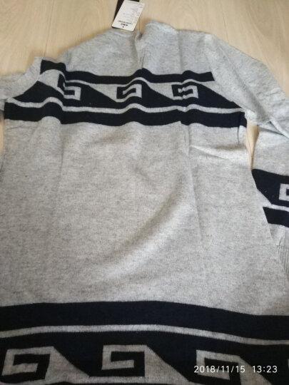 MAZOE复古时尚撞色图腾提花修身中长款羊毛衫Z1130 杏色 M 晒单图