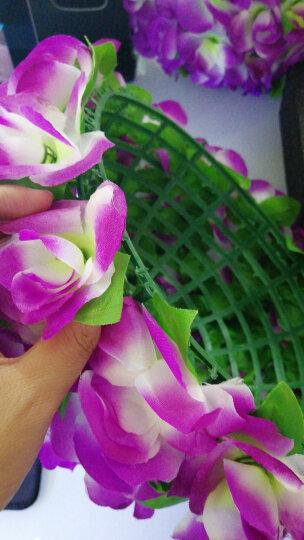 如一花开 加密玫瑰仿真花球工程装饰花艺塑料假花婚庆酒店商场布置挂饰吊顶 紫色40厘米 晒单图