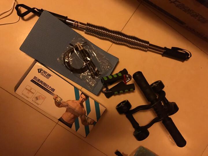 凯速KANSOON健身套装四轮健腹轮跳绳40KG臂力器臂力棒握力器两用拉力器绿骑士五件套TA01 晒单图