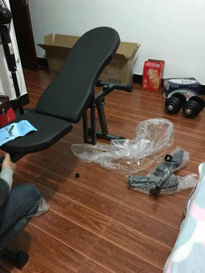 虹博(HOOB) 虹博小飞鸟哑铃凳卧推椅仰卧起坐板腹肌板家用健身器材 升级款蓝色带拉绳 晒单图