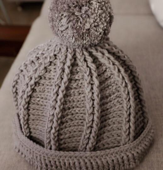 ANERSEN宝宝毛线5股牛奶棉中粗毛线纯棉线手编钩针线围巾线 灰色 15 晒单图