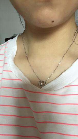 明牌珠宝 Pt950 铂金项链女款 心心相印蕾丝吊坠+项链铂金套链 BFR0042 爱心项链 42厘米约4.47克 晒单图