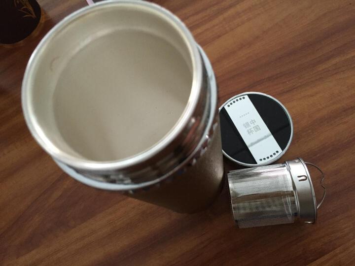 鑫龙运(XINLONGYUN) 银杯子999纯银保温杯 云南大理雪花银内胆银杯水杯银水杯 深咖啡 晒单图