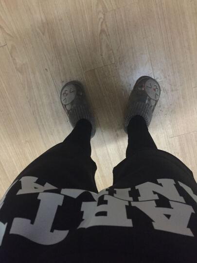 时尚潮款2019弹力个性舒适裤子紧身打底裤街舞潮男生小脚运动裤 黑色 L 晒单图
