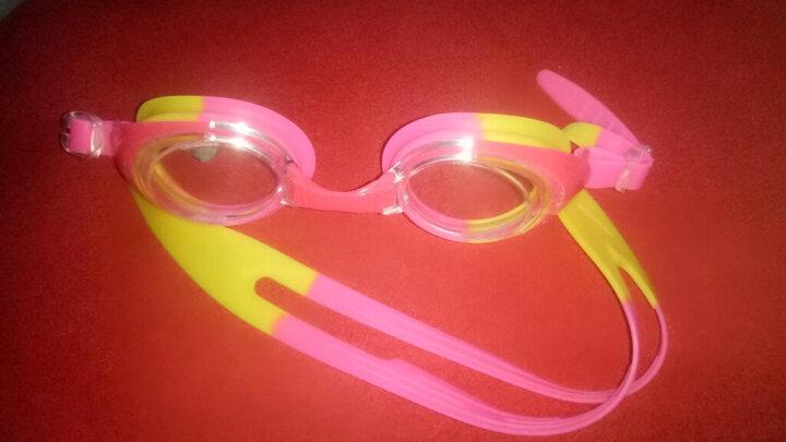 李宁(LI-NING) 儿童泳镜 男童女童舒适安全儿童游泳镜 男孩女孩贴合防水游泳眼镜泳帽套装 大框款307套装蓝 晒单图