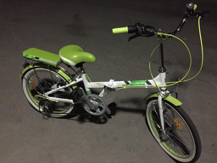 永久自行车 7速20寸彩配折叠车 铝合金车架 男女式单车 YE2015 绿色 晒单图