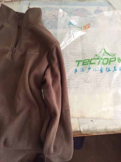探拓(TECTOP)抓绒衣 男女户外加厚保暖运动上衣 纯色套头冲锋衣内胆 女款玫红色 3XL 晒单图