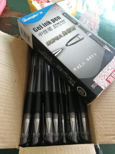 广博(GuangBo)60支装0.5mm子弹头中性笔/签字笔/水笔 黑色ZX9533D 晒单图