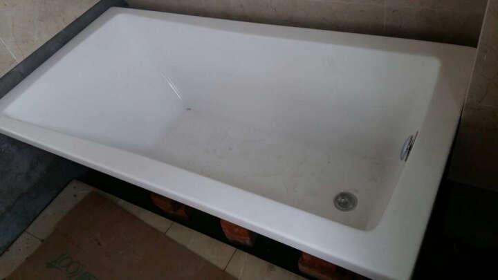 沃特玛(Waltmal) 亚克力嵌入式浴缸长方形成人浴盆02820 1.4-1.7米 五件套 躺下龙头在右(不含支架) 约1.59米 晒单图