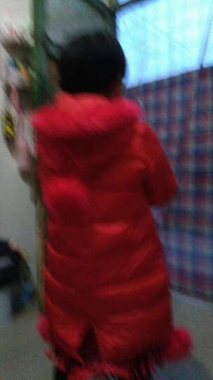 马可小熊 2017冬装新款女童棉衣外套中大童韩版儿童棉服上衣 中长款  3988 粉红色 130(建议身高125cm) 晒单图