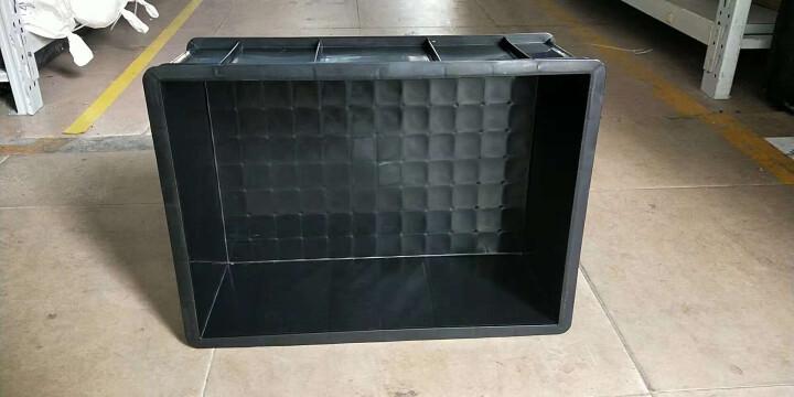 全新加厚防静电周转箱 黑色长方形塑料收纳箱ESD电子物料塑胶框可配盖 3号(360*265*125)黑色 晒单图