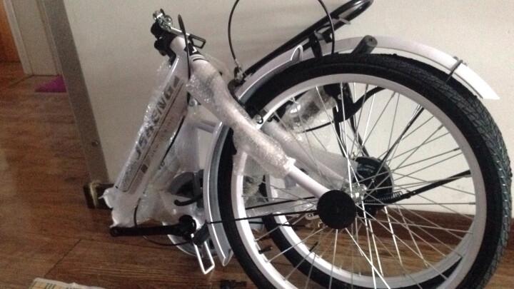君圣 20寸便携式轻便型男女折叠自行车成人折叠车学生车迷你款自行车带减震非变速折叠车 变速豪华版下单留言颜色 晒单图