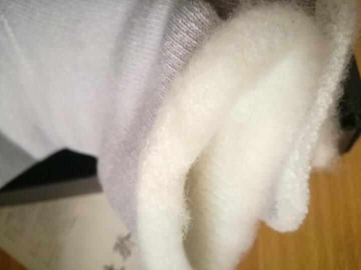 TOLORINIE 加厚加绒色纺拉毛保暖女袜地板袜月子 毛线毛袜睡眠袜子K2187 粉红+粉蓝 22-24 晒单图
