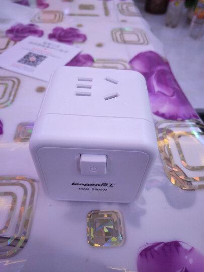 良工(lengon)USB插座智能魔方电源插座插排插线板 一转四转换器多功能新国标立式接线板绿色1.68米 晒单图