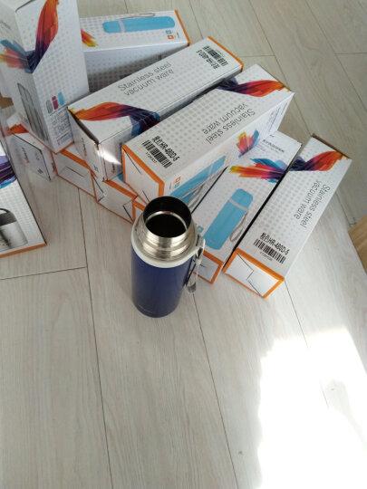 华亚(WAYA)水杯保温杯HR-500D-3 儿童保温杯 子弹头便携杯 不锈钢男女士杯子500ml 蓝色 晒单图