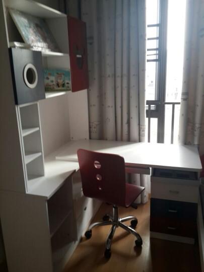 皇家公馆 双层床 上下床高低床  三层床 彩色多功能梯柜 组合床 508城区送装 双层床+梯柜+拖床 晒单图