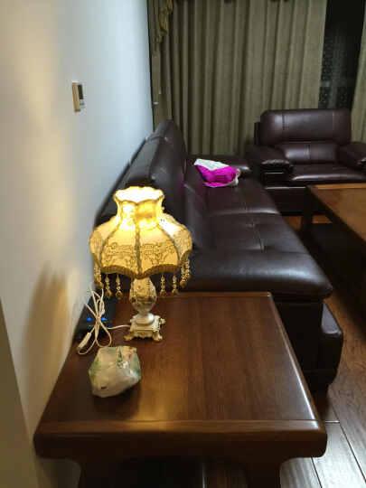 名斯 欧式台灯 卧室床头台灯 婚庆创意田园床头灯温馨装饰灯 001-1T台灯 晒单图