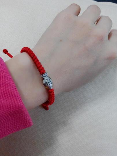皇饰 【小鱼手链】女士手链 手工精编合金小鱼手链 民族风红绳手链 晒单图
