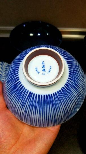 美浓烧(Mino Yaki) 【日本原装进口】美浓烧餐具陶瓷碗日式家用米饭碗餐具套装礼盒 4.5英寸蓝绘饭碗 晒单图
