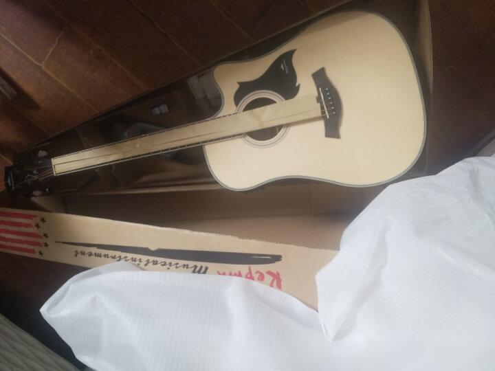 kepma 卡马 吉他民谣木吉他初学者乐器 缺角41寸 D1CE酷黑色电吉他 晒单图
