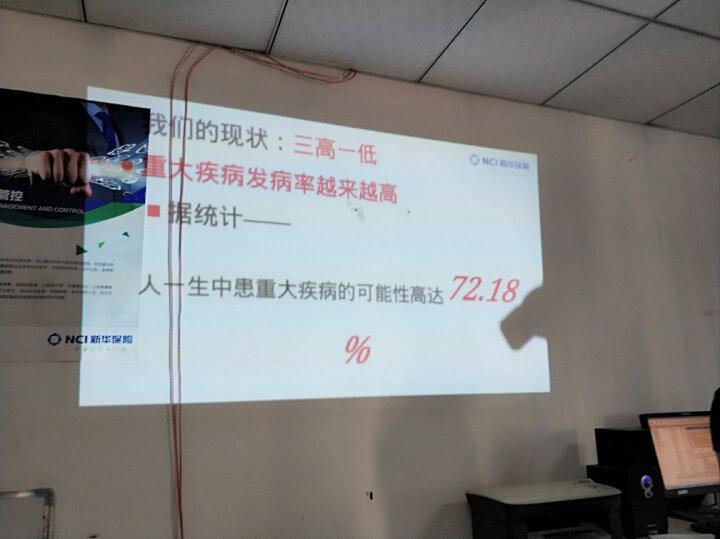 坚果投影仪P2 家用迷你高清小型会议办公移动便携式投影机智能无线wifi微型3D手机影院家庭无屏电视 【太空银】原厂标配 晒单图