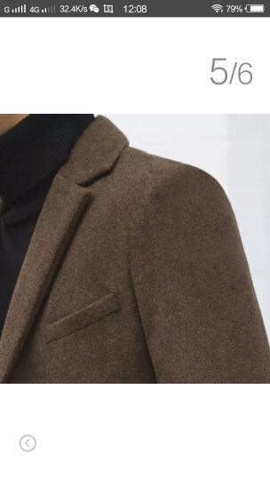布彦西服男修身韩版冬季羊毛呢商务休闲小西装外套男潮上衣青年单西男加厚款纯色呢子大衣秋季 驼色 L 晒单图