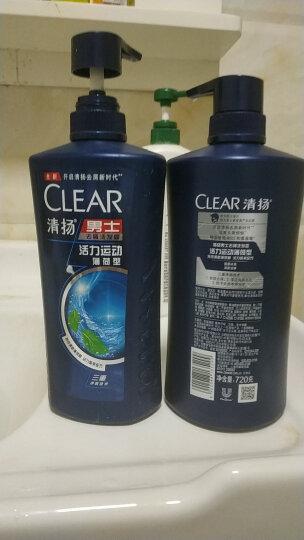 清扬(CLEAR)男士去屑洗发水套装 活力运动薄荷型750mlx2送活力运动薄荷100mlx2 晒单图