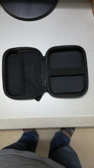 耐泊尔 (NAIPOER)N-B2 高端皮革质感2.5英寸移动硬盘包 防水抗震/保护套/便携式多功能数码收纳包 晒单图