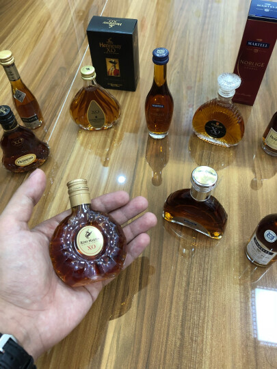 宝树行 人头马XO50ml小酒版 优质香槟区干邑白兰地法国原装进口洋酒-玻璃瓶酒伴 晒单图